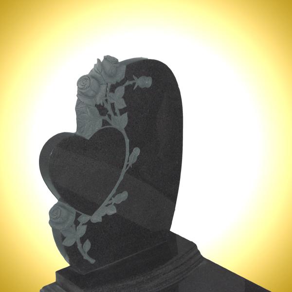 Lapide con cuore nero